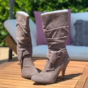Circa Joan & David, CJPretty Grey Suede Boot